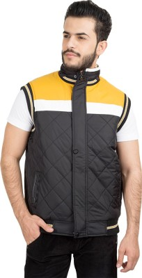 British Club Sleeveless Self Design Men's Jacket