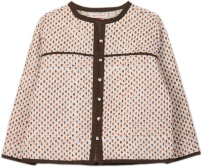 My Little Lambs Full Sleeve Printed Girls Quilted Jacket