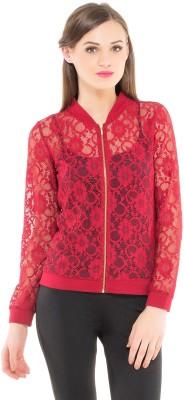 Kazo Full Sleeve Self Design Women's Jacket Jacket