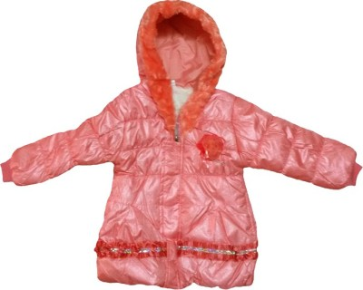 Fusion Fashion Full Sleeve Solid Girl's Quilted Jacket