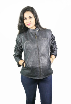Launcher Full Sleeve Solid Women's Leather Jacket