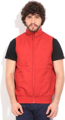 John Players Sleeveless Solid Men's Quilted Jacket
