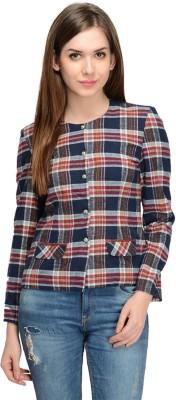 Bargain Basement Full Sleeve Checkered Women's Jacket