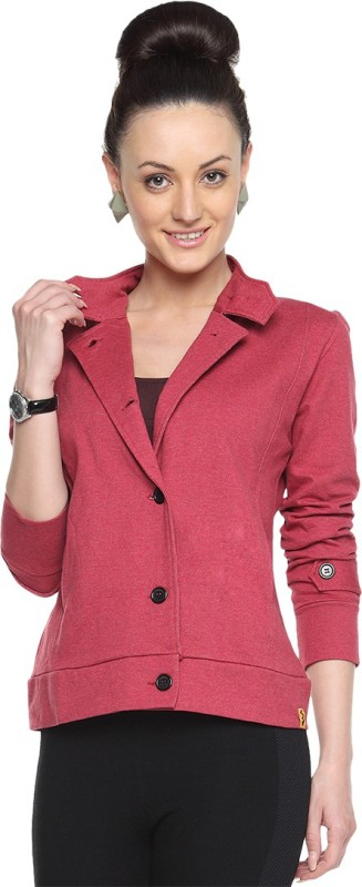 Campus Sutra Full Sleeve Solid Women Jacket Jacket