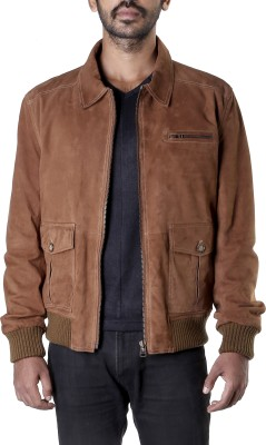 Theo&Ash Full Sleeve Solid Men,s Bomber Jacket