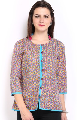 Anouk Rustic 3/4 Sleeve Printed Women,s Non Quilted Jacket