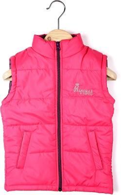 People Sleeveless Solid Girl's Jacket