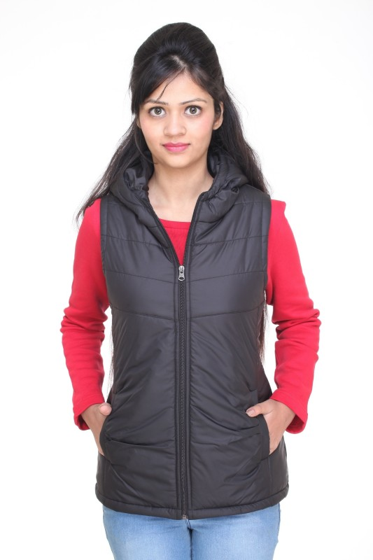 Trufit Sleeveless Solid Women's Bomber Jacket