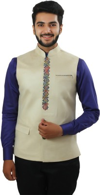 Ethnic Monarch Sleeveless Solid Men's Jacket