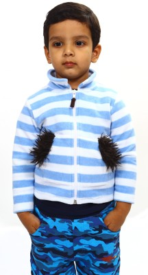 Bio Kid Full Sleeve Striped Baby Boys Jerkin Jacket