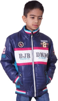 Little Bugs Full Sleeve Self Design Boy's Quilted Jacket