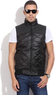 Pepe Jeans Sleeveless Solid Men's Quilted Jacket
