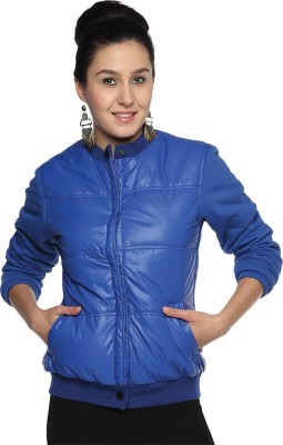 Campus Sutra Full Sleeve Solid Women's Quilted Jacket