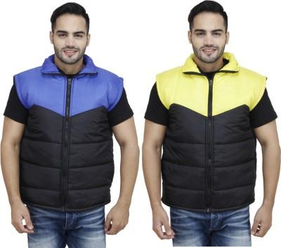 Christy World Half Sleeve Solid Men's Jacket