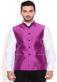 Vivyaan Sleeveless Solid Men's Plain Sil...