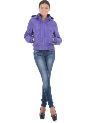 Burdy Full Sleeve Argyle Women's Quilted Jacket
