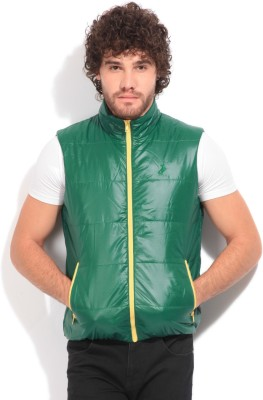 John Players Sleeveless Striped Men's Quilted Jacket