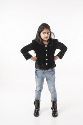 Vastra Valley Full Sleeve Solid Girl's Jacket