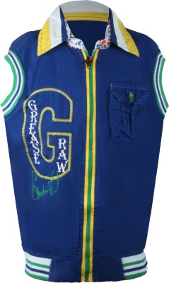 Oil and Grease Sleeveless Printed Boy's Jacket