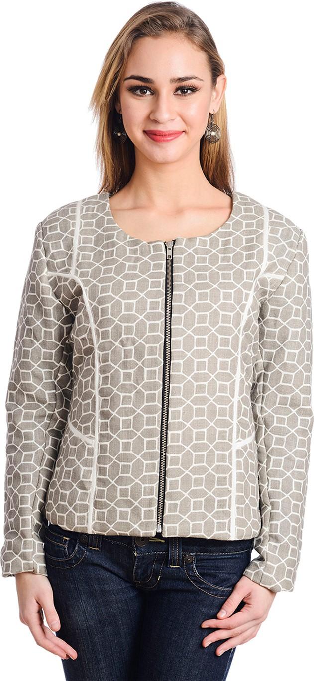 Trend Arrest Full Sleeve Geometric Print Womens Jacket