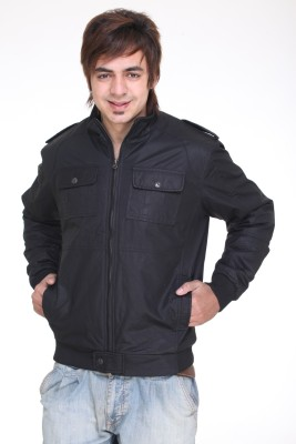 Trufit Full Sleeve Solid Men,s Bomber Jacket