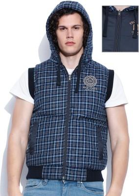 Proline Sleeveless Self Design Men's Jacket