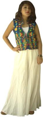 Garg Fashion Sleeveless Embroidered Women's Jacket