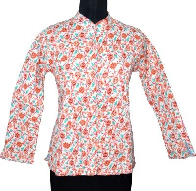 Rajcrafts Full Sleeve Floral Print Women's Jacket