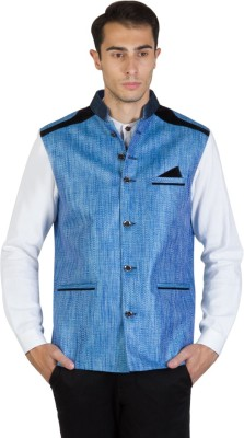 Burdy Sleeveless Self Design, Solid Mens Jacket
