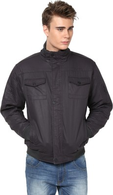 Okane Full Sleeve Self Design Men,s Self Design Jacket Jacket
