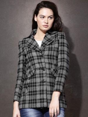 Roadster Full Sleeve Checkered Women's Jacket