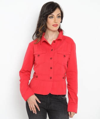 Bedazzle Full Sleeve Solid Women's Jacket