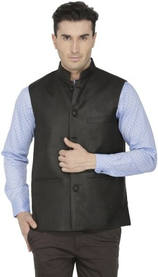 Febulous Sleeveless Solid Men's Jacket