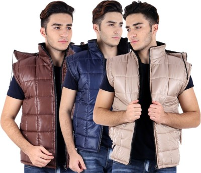 Kritikas World Sleeveless Solid Mens Jacket