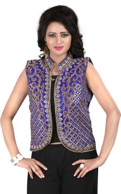 Shreeji Designer Sleeveless Embroidered Women's Jacket
