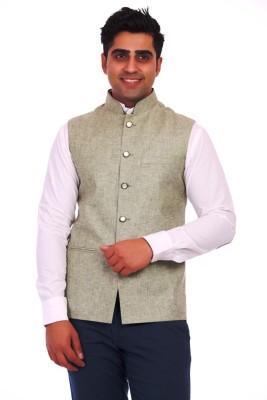 M S Creation Sleeveless Solid Men's Jacket