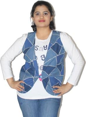 Lolaski Sleeveless Striped Women's Denim Jacket
