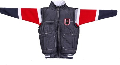 Enclothe Half Sleeve Self Design, Solid Boy's Jacket