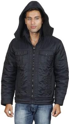 Hiver Full Sleeve Solid Men's Zipper Jacket