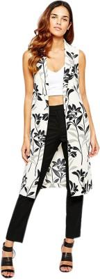 Fromycloset Sleeveless Floral Print Women's Jacket