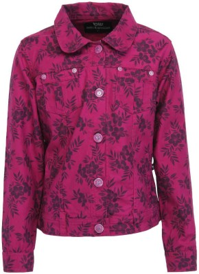 Bells and Whistles Full Sleeve Printed Girl's Jacket