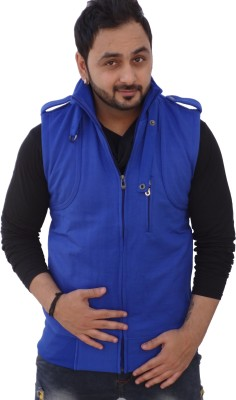 Black Collection Sleeveless Solid Men's Jacket