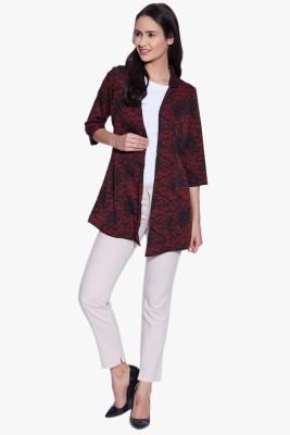 Fugue 3/4 Sleeve Printed Women's Jacket