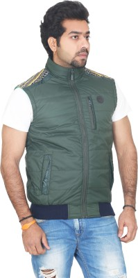 Vedache Sleeveless Solid, Striped Men's Jacket