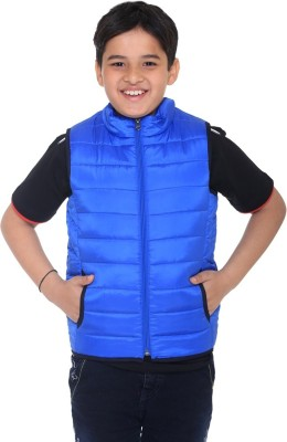 Kids-17 Sleeveless Solid Boys Jacket
