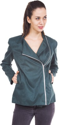 9teenAGAIN Full Sleeve Solid Women's Jacket at flipkart