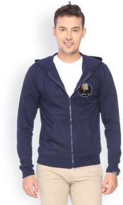 Campus Sutra Full Sleeve Solid Men,s Fleece Jacket