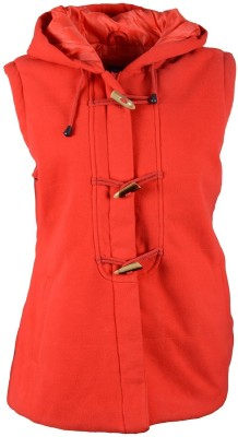 Vedas Sleeveless Self Design Women's Jacket