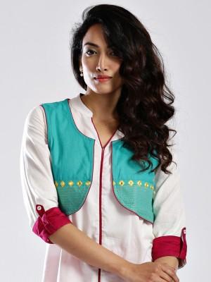 Anouk Sleeveless Embroidered Women's Jacket