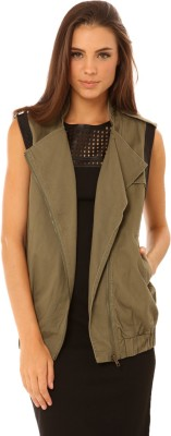 Living Doll Sleeveless Solid Women's Jacket